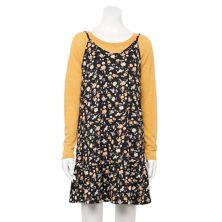 Платье для юниоров с принтом WallFlower и воланами и пуловер Hacci WallFlower