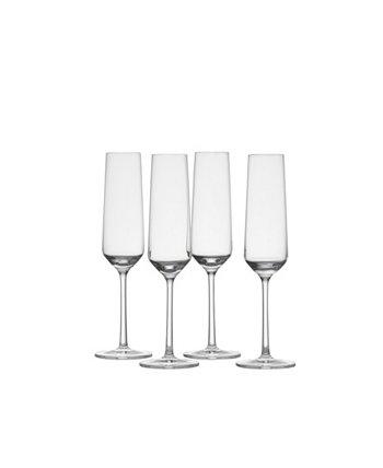 Чистое шампанское 7,3 унции, набор из 4 шт. Schott Zwiesel
