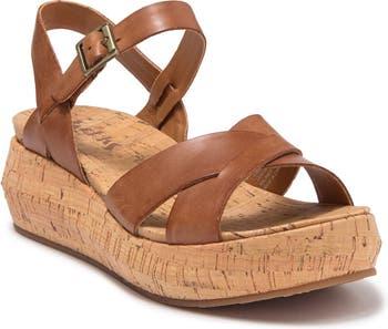 Kalie Leather Platform Sandal Korks