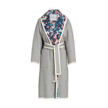 Пальто Cadence с цветочным принтом и поясом Tanya Taylor