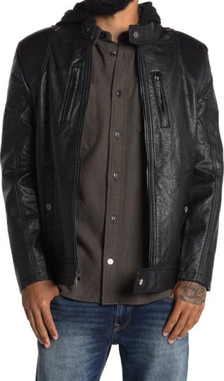 Куртка из искусственной кожи с ребристой отделкой Urban Republic