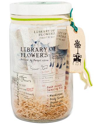 5-шт. Набор для отбора проб товаров для ванны Forget Me Not Library of Flowers