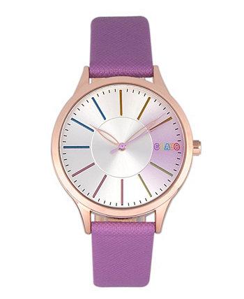 Часы унисекс гель фиолетовый ремешок из искусственной кожи 35 мм Crayo