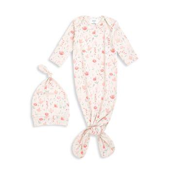 Комфортное вязаное платье из двух частей для девочек и девочек из двух частей. Набор шляп Aden + anais