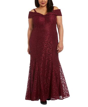 Кружевное платье больших размеров с открытыми плечами R & M Richards
