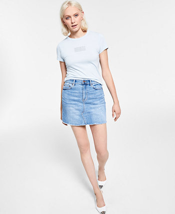 Джинсовая юбка с необработанными краями Calvin Klein