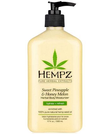 Увлажняющее средство для тела Sweet Pineapple & Honey Melon, 17 унций, от PUREBEAUTY Salon & Spa Hempz
