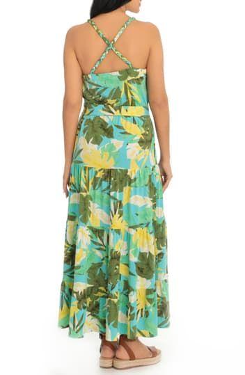 Многослойное макси-платье с тропическим принтом Bali London Times