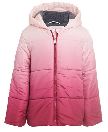 Стеганая куртка с капюшоном Little Girls Hombre Calvin Klein