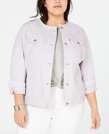 Модная джинсовая куртка больших размеров из хлопкового денима Levi's®