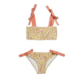 Little Girl's & Girl's 2-Piece Carnaby Tie Bikini Set Zimmermann Kids