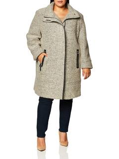 Женское шерстяное пальто больших размеров с покрытием Calvin Klein