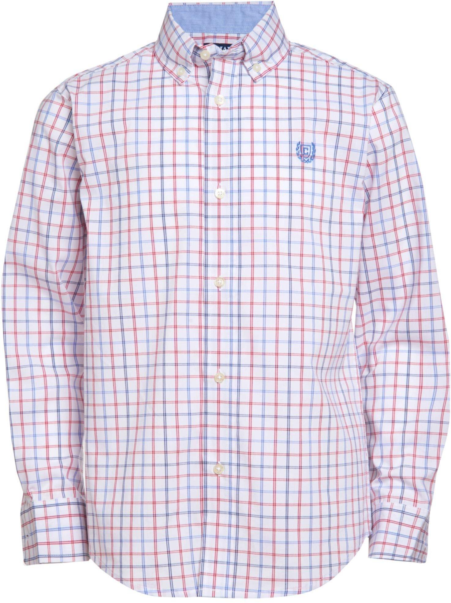 Тканая рубашка в клетку с длинным рукавом на пуговицах CHAPS