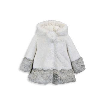 Baby's, Little Girl's & amp; Пальто А-силуэта с цветными блоками из искусственного меха American Widgeon для девочек WIDGEON