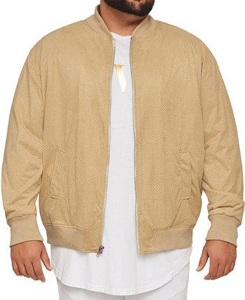 Мужская куртка-бомбер из перфорированной замши из коллекции Big & Tall MVP Collections Mvp Collections By Mo Vaughn Productions