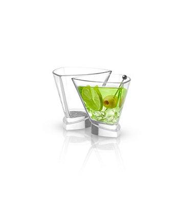 Треугольные бокалы для мартини Aqua Vitae Off Base, набор из 2 шт. JoyJolt