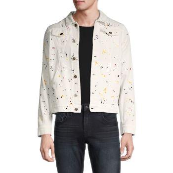 Джинсовая куртка стандартного кроя с брызгами Eleven Paris
