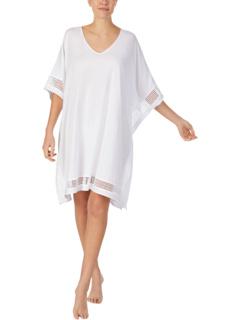 Пижамы Короткий кафтан из хлопкового джерси Donna Karan
