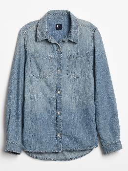 Детская джинсовая рубашка с Washwell ™ Gap Factory