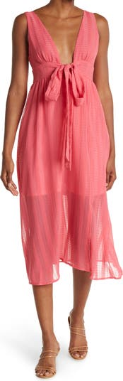 Жаккардовое платье с завязками спереди NSR