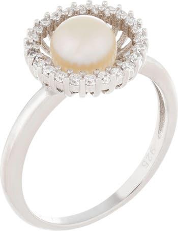 Необычное серебряное кольцо 6-7 мм с культивированным пресноводным жемчугом Splendid Pearls