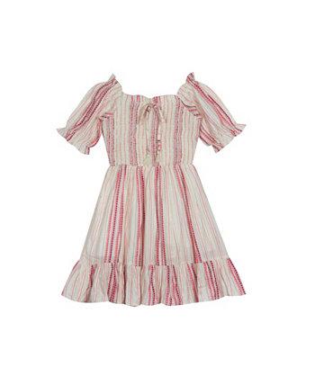 Марлевое платье в полоску для маленьких девочек Rare Editions