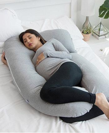 Подушка для всего тела U-образной формы с чехлом из джерси для беременных PharMeDoc