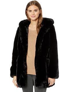 Пальто Maria с капюшоном из искусственного меха APPARIS