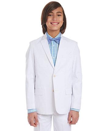 Белый пиджак из стретч-твила для больших мальчиков Tommy Hilfiger