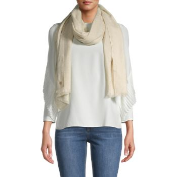Металлический шарф с бахромой Calvin Klein
