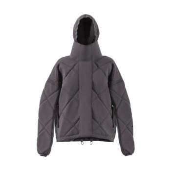 Стеганое короткое пуховое пальто с ромбами Adidas by Stella McCartney