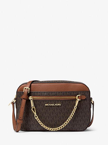 Большая сумка через плечо с логотипом Jet Set Michael Kors