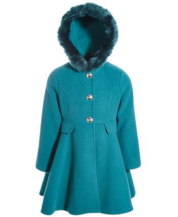 Пальто для маленьких девочек с капюшоном и бантом S Rothschild & CO