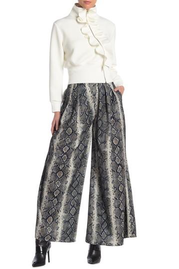 Широкие штаны со змеиным принтом (обычный и большой размер) Gracia