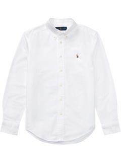 Cotton Oxford Sport Shirt (Big Kids) Ralph Lauren