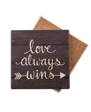 Love Always Wins Coaster THIRSTYSTONE