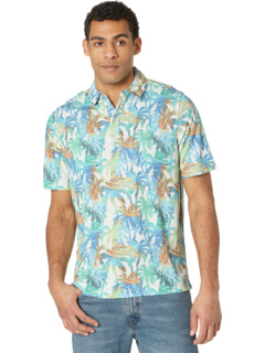 Рубашка-поло с принтом Vintage Slub Johnston & Murphy