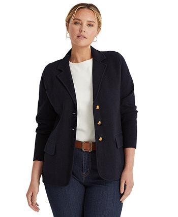 Плюс размер свитер вязать пиджак Ralph Lauren