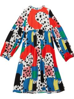 Платье в стиле далматин с длинными рукавами с цветными блоками (Малыши / Маленькие дети / Старшие дети) Stella McCartney Kids