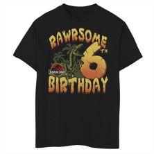 Футболка для мальчиков 8-20 Jurassic Park Rawrsome с рисунком на шестой день рождения Jurassic Park