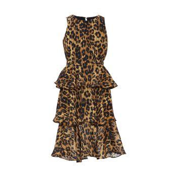 Многослойное макси-платье с принтом гепарда Emiliana для девочек Milly Minis
