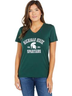 Футболка Michigan State Spartans University 2.0 с V-образным вырезом Champion College