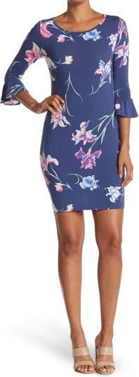 Платье прямого кроя с короткими рукавами For Your Iris Only Lana TORI RICHARD