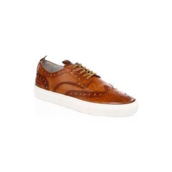 Кожаные кроссовки Wingtip Grenson