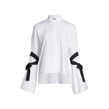Рубашка на пуговицах с лентой REDValentino