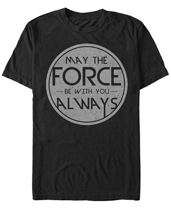 Футболка мужская May The Force Be You Всегда с коротким рукавом Star Wars