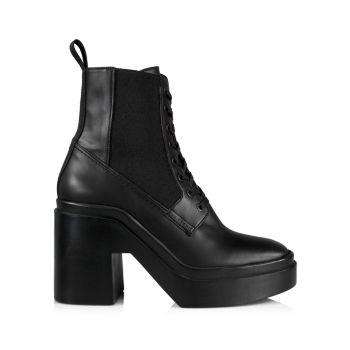 Кожаные сапоги Noam на шнуровке Clergerie
