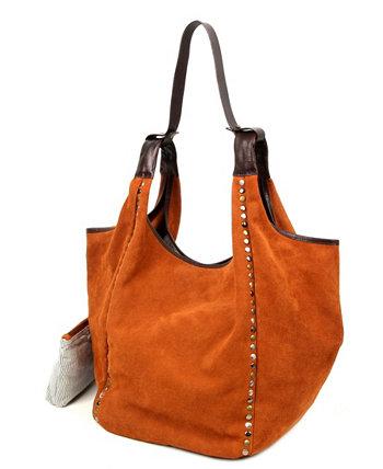 Кожаная сумка-хобо Rose Valley Old Trend