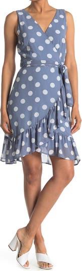Платье с завязками на талии и оборками в горошек Papillon