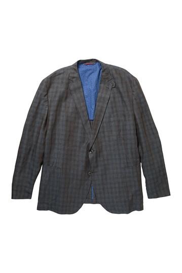 Льняное спортивное пальто в клетку Bono 2 (для больших и высоких) Kroon